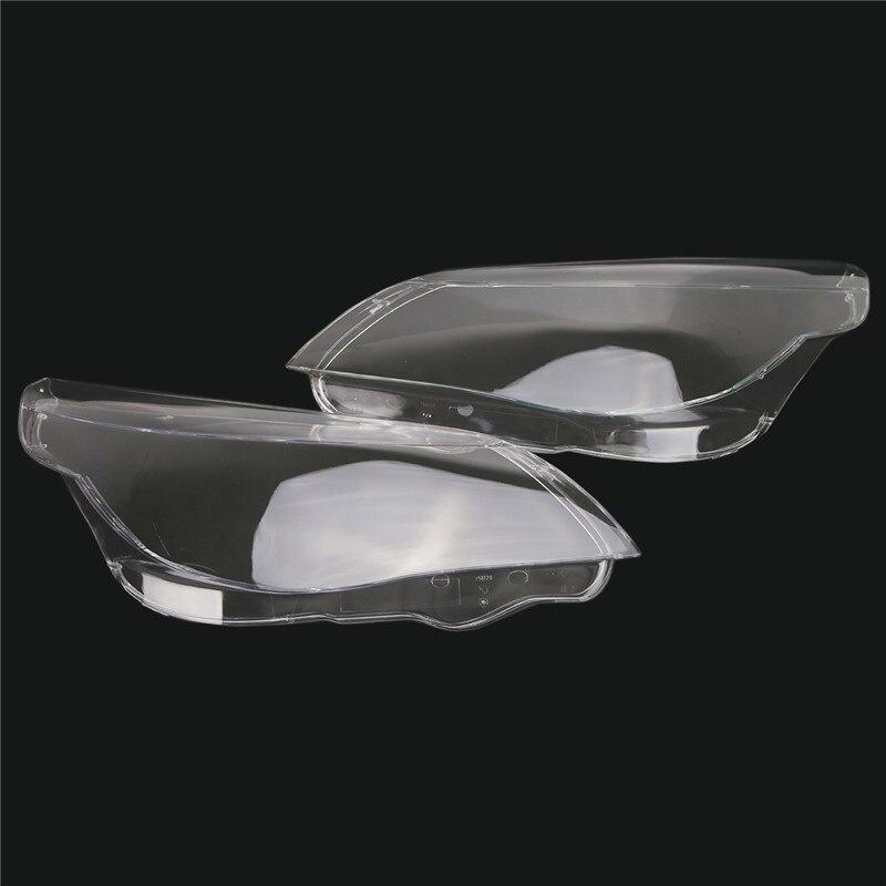 2Pcs Left Right Headlight Shell Lamp Lens Plastic Cover For BMW 5 Serice E60 E61 520i 520d 523i 525i 530xi 535d 540i 545i 550i 2pcs left