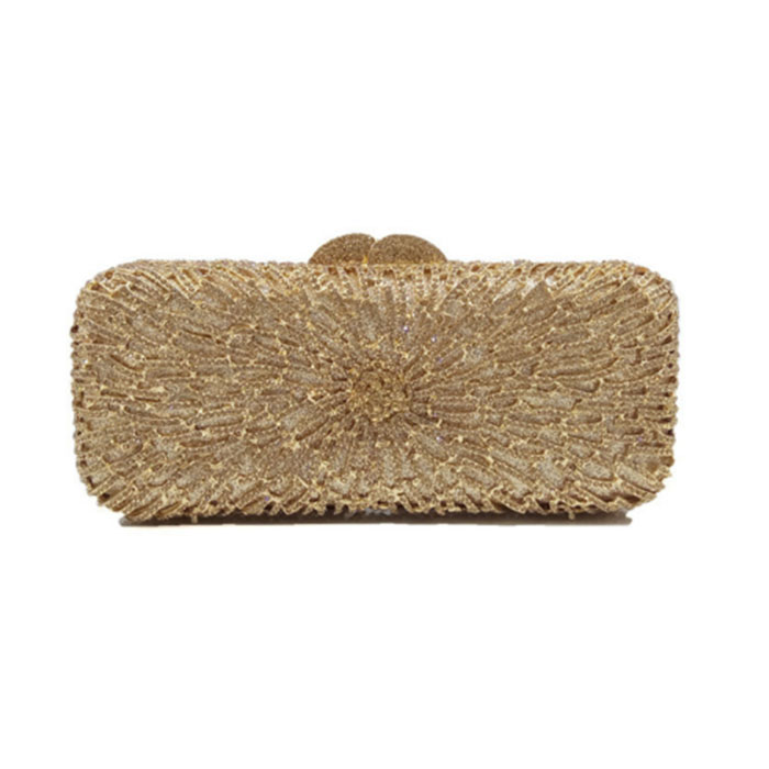 Hot Sale Single Rhinestone Minaudieres Evening Bag Newest Elegant Crystal Clutch Wedding Party Dinner Bags hot sale cayler