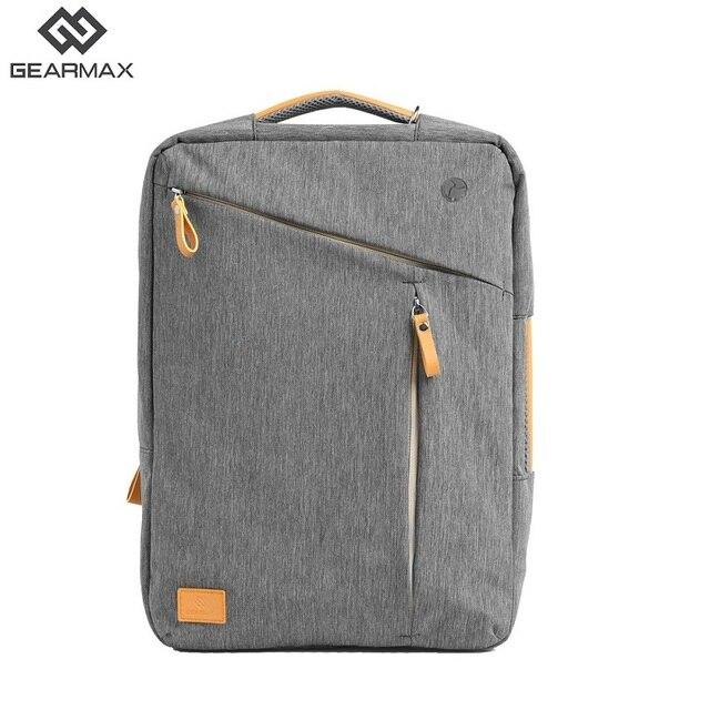 Gearmax Bagpack Men Women Laptop Backpack 15 15.6 Laptop Bagpack Gray Blue School Backpack Nylon Notebook Bag Casual Business