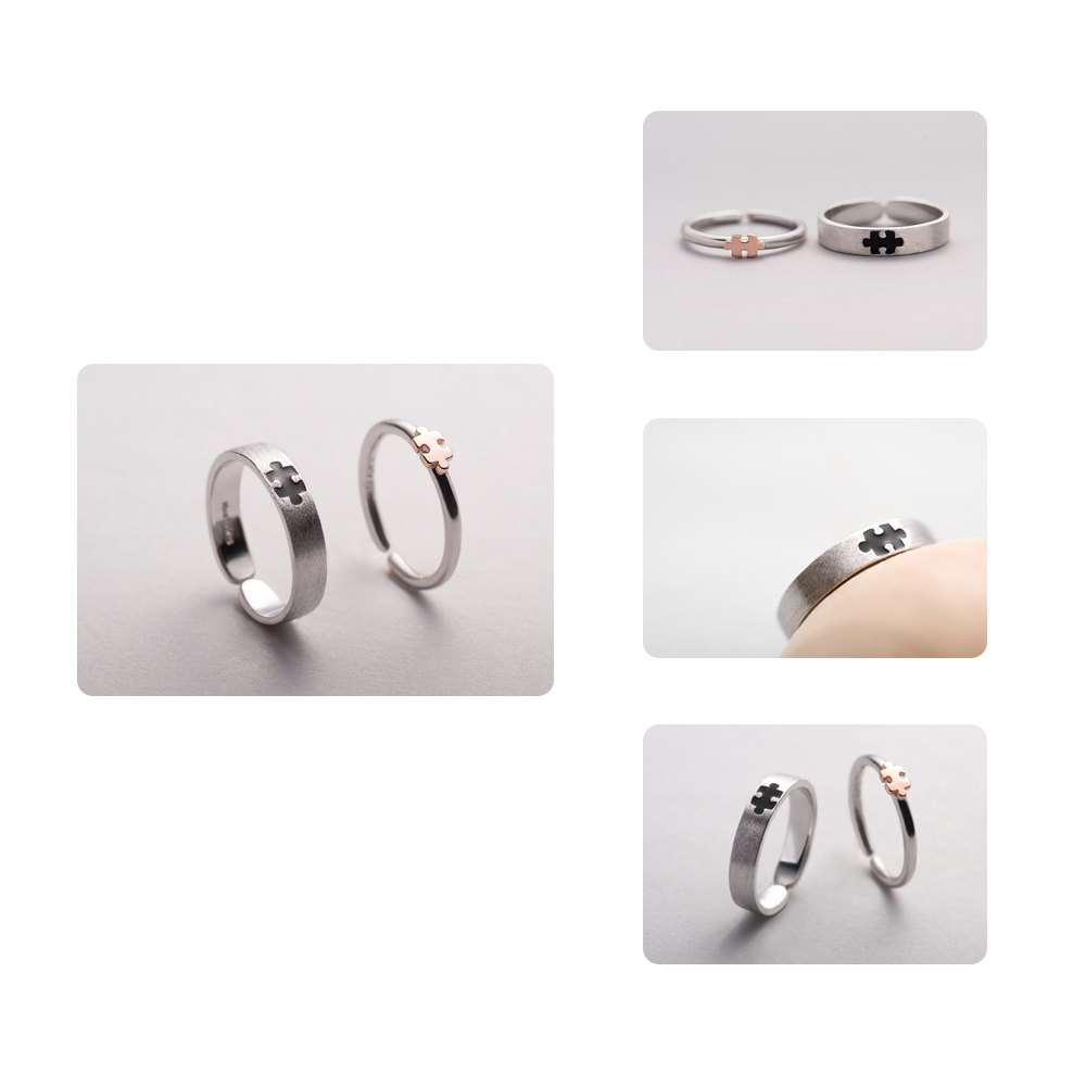 Image 3 - Thaya Rose Gold 3d Puzzle Rings Bijoux En Argent 925 Engagement Finger Ring For Women Gift Handmade Jewelry Bijoux Femme-in Rings from Jewelry & Accessories
