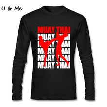 04447fe5e7d Long Sleeve Fit Business T Shirts Men Boxinger Shirt Muay Thai Custom  Printed Costumes t shirt