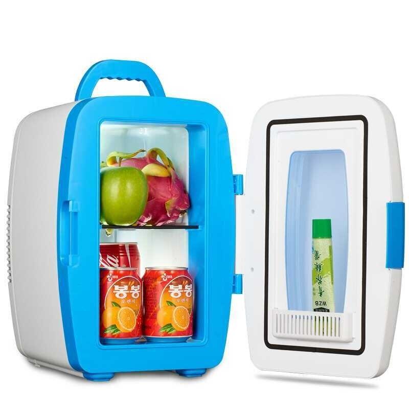 220 В автомобиль 12 в электрический холодильник 10л синий/розовый два цвета доступны охладитель и подогреватель двойного использования для пу