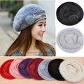 HOT! Women's Real Genuine Rabbit Fur Winter Warm Hat Beanie Hat Cute Cap