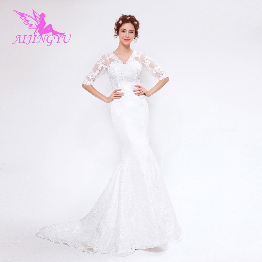 AIJINGYU 2018 New Free Shipping China Bridal Gowns Cheap Simple Wedding Dress Sexy Women Girl Wedding Dresses Gown TS130
