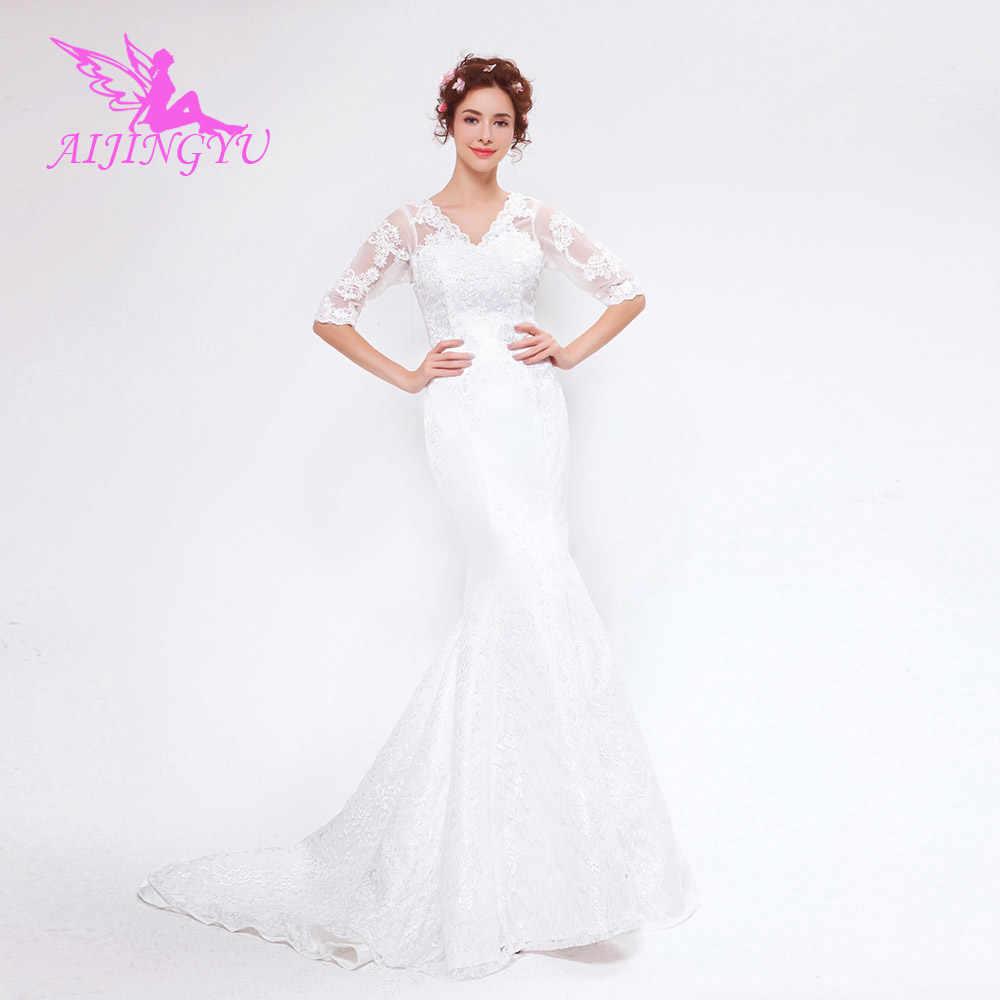 c25ef3689eb Aijingyu 2018 Новая бесплатная доставка Китай Свадебные платья дешевые  простой торжественное платье пикантные женские свадебные платья