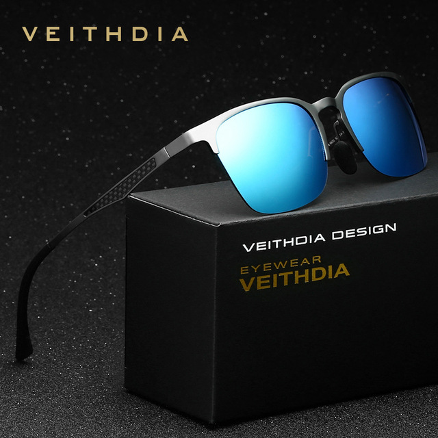 2017 Summer New VEITHDIA Polarized Brand Designer Sunglasses Men Vintage Sun Glasses Eyewear gafas oculos de sol masculino 6631