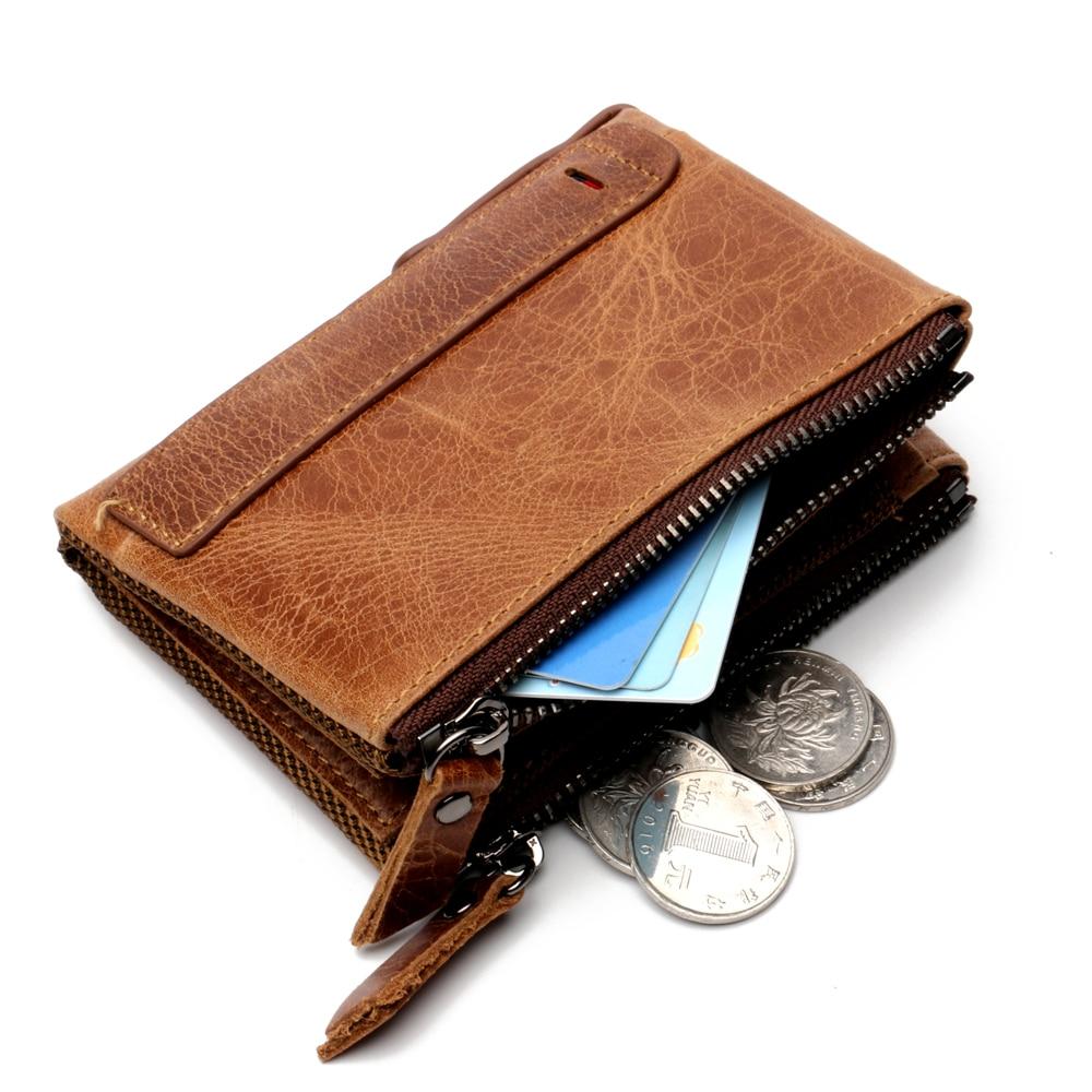 LIGONG Mens Leather Bifold ID Card Holder Purse Money Clip Wallet
