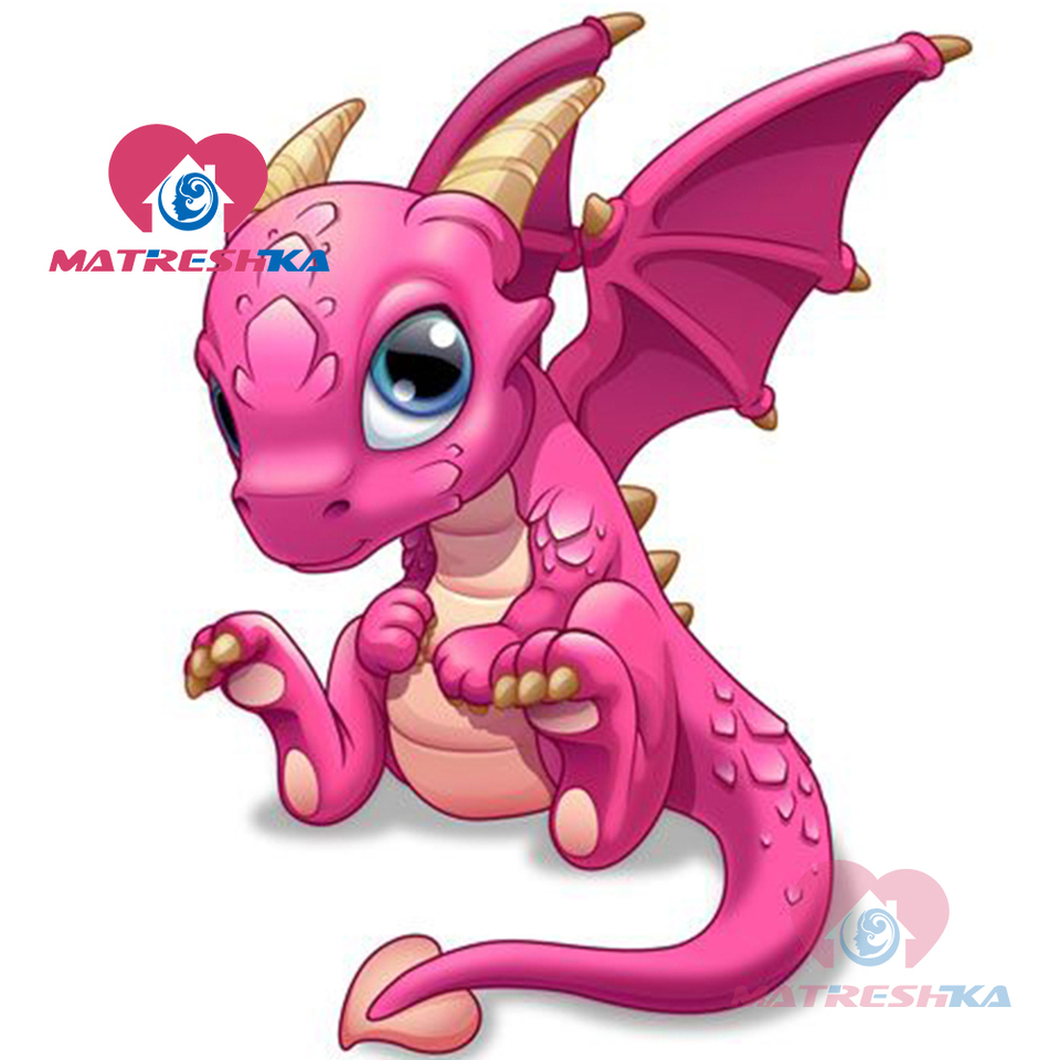 Diamond Mosaic Diamond Painting Dragon Pictures Of Rhinestones Sale Cartoon Diamond Embroidery For Children Coloring By Numbers
