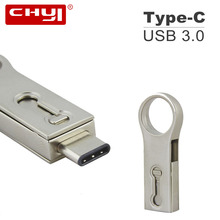 CHYI Pullring shap 2 in 1 Type-C USB 3.1 Flash Drive Memory USB Pendrive 16GB 32GB 64GB USB Disk Drive Storage Stick Smart Phone