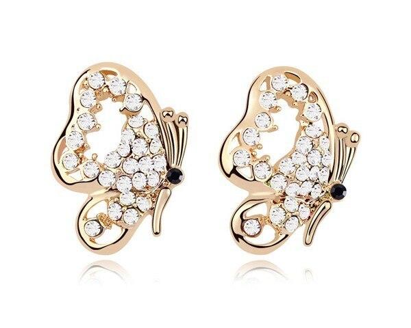 Austrian White Crystal Butterfly Earrings Earring For