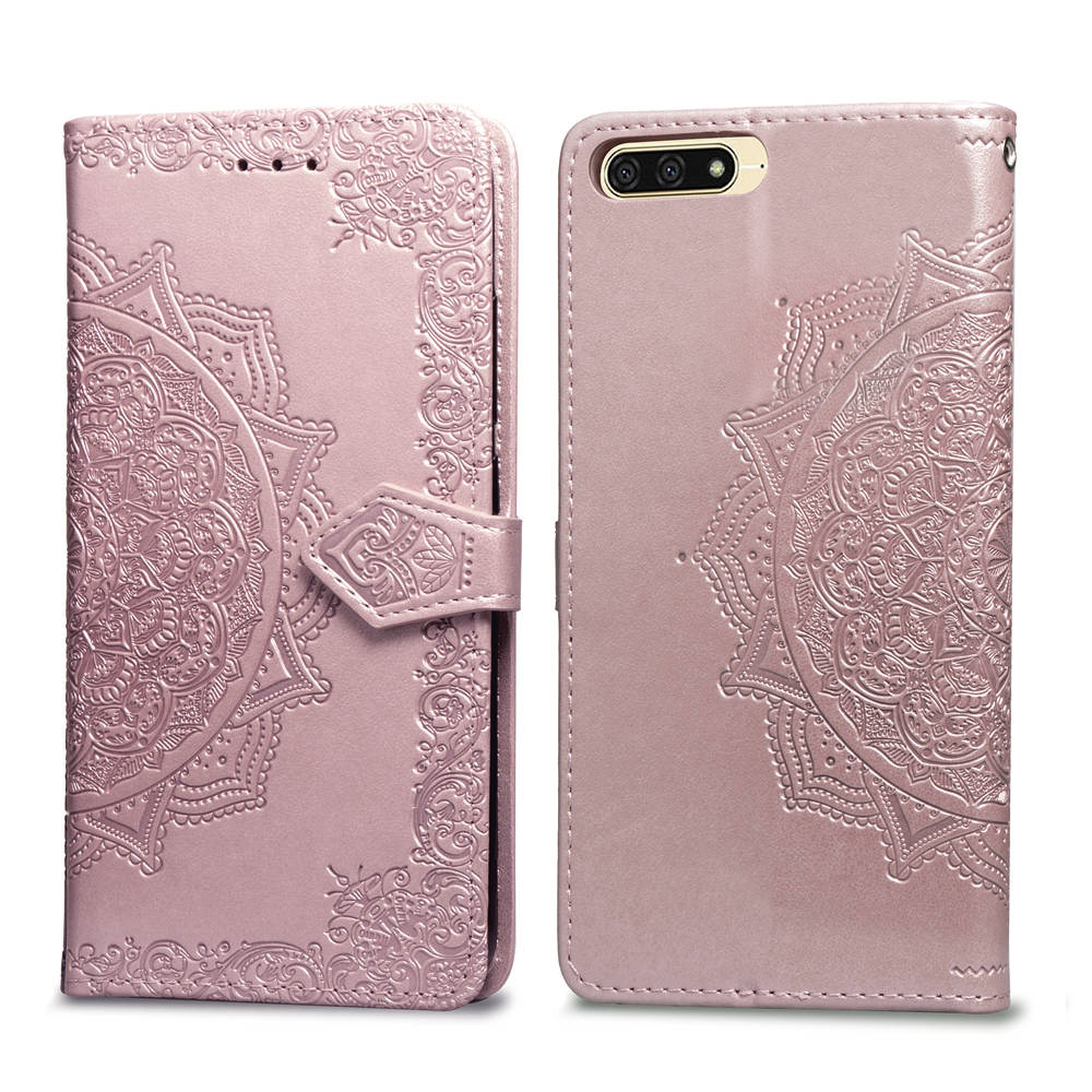 <font><b>3D</b></font> Datura Flower Leather Wallet Phone Case For Huawei <font><b>Honor</b></font> <font><b>7A</b></font> 5.45'' Flip Cover for Huawei <font><b>Honor</b></font> <font><b>7A</b></font> 7 A <font><b>DUA</b></font> <font><b>L22</b></font> Russian version image
