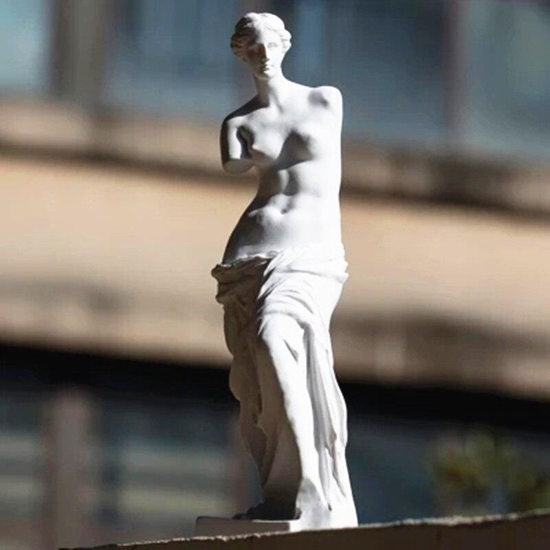 29CM Nude Venus De Milo Aphrodite Goddess Hellenistic Statue Replica Reproduction Statue Gypsum Statue Gypsum Sketch G1744