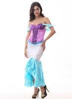 mermaid paillette women costume dress Halloween role play female clothing Miss Mermaid vestidos COS