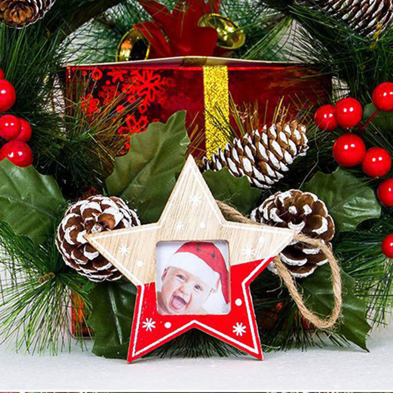 Christmas Creative Wooden Photo Frame Ornament Christmas ...