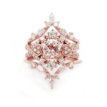 Rose Gold Color Frosted Finger Ring for Woman Wedding Jewelry Imitation drill Stainless Steel Top Quality Never Fade Size 6-10