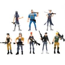 8pcs/set PUBG Figure Toy 11.5cm PUBG game Character PVC Action Figures Toy For children Gift BKX132 free shipping 8pcs plant vs zombies pvc figure toy set 8pcs set pvc toy for gift