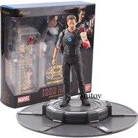 S.H.Figuarts Iron Man Tony Stark with Tony's Powerd Stage PVC Iron Man Action Figure Marvel Collectible Model Toy