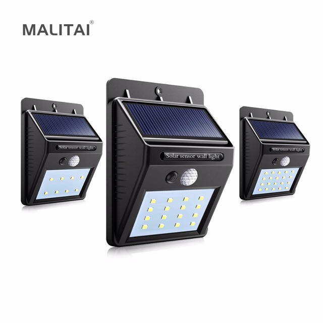 Waterproof Outdoor Wall Lamp Bulb Led Solar Porch Light Ed By Panel Pir Motion Sensor For Path Street Garden Lighting