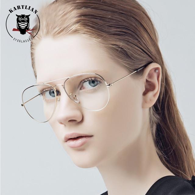 f064301fba glasses men Kartlian aviator optical frame custom prescription glasses  women clear lens eyewear lenses alloy eyeglasses
