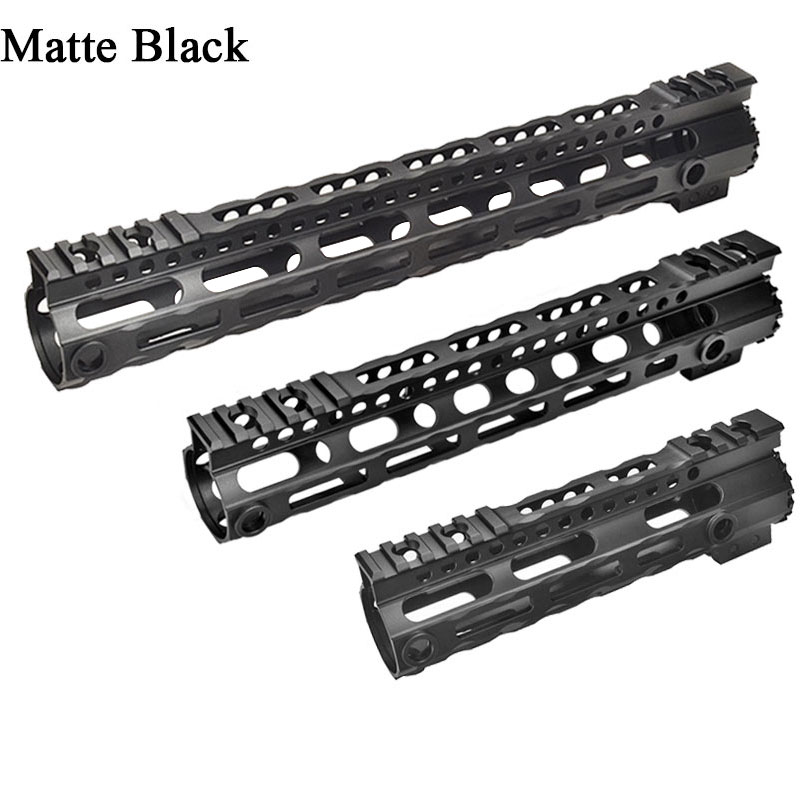 AR-15 M4 Ultra lightweight Free Float Handguard Tactical 20mm Picatinny Rail Base Forend Scope Mount M-LOK 7.25'' 10'' 12.5''
