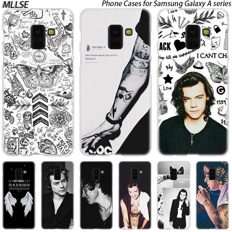 One Direction tatuaże Harry Styles Hard Case do Samsung Galaxy A10 A20 A30 A40 A50 A70 A20E A2 CORE M10 m20 M30 Hot pokrywa