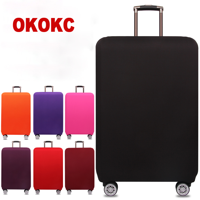 OKOKC Travel Thicken Elastic Pure Color Luggage Suitcase Protective Cover, Apply to 18-32inch Cases, Travel Accessories(China)