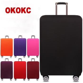 OKOKC Travel zagęścić elastyczną czystą kolorową osłona ochronna walizki bagażowej stosuje się do walizek 18-32 cali akcesoriów podróżnych tanie i dobre opinie Poliester 80cm Polyester T2155 33cm Stałe 0 25g Klapy Bagażnika Akcesoria podróżnicze 54cm