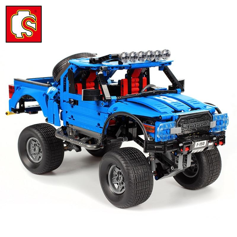 Technic series 701970 nouveau le F-150 Raptor pick-up modèle blocs de construction set jouets classiques pour enfants anniversaire Gitfs pour les enfants