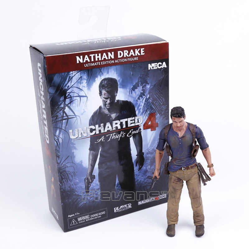 Neca uncharted 4 um ladrão final nathan drake ultimate edition pvc figura de ação collectible modelo brinquedo 18cm