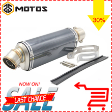 ZS MOTOS 6 colors 370mm Modified Motorcycle Carbon Fiber Exhaust Muffler Pipe for CB400 CBR125 CBR600 YZF Z750 Z800 Z1000