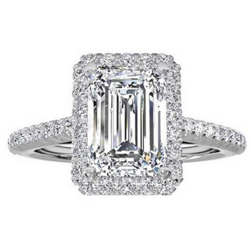 925 anillos de bodas de Compromiso de Plata Esterlina para Las - Bisutería - foto 6