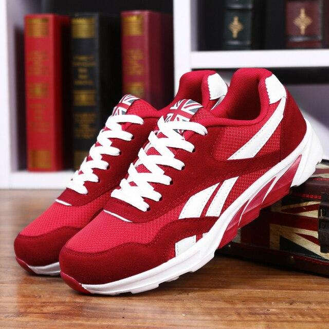 Popular Primavera Outono Homens Correndo Sapatos Respirável Sapatos Ao Ar Livre Calçados Esportivos Zapatos Leve E Confortável Athletic Tênis Masculinos