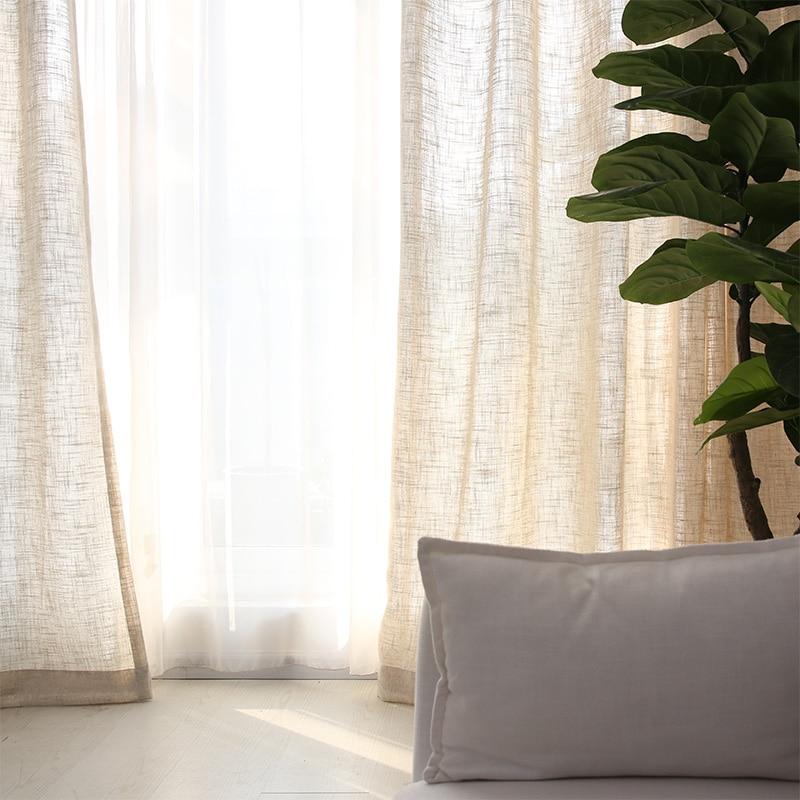 Sua Ma Export Linen Cotton And Linen Soft Feeling American Village IKEA  Solid Color Screens Ma