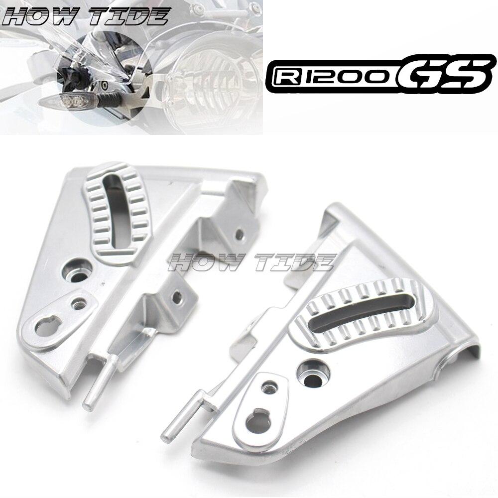 Pour BMW R1200GS GS1200 04-12 R 1200 GS R1200 GS 2004-2012 2011 moto pare-brise pare-brise Kit de montage en aluminium