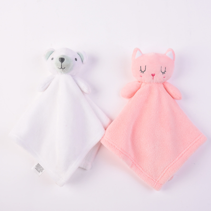 Newborn Soft Soothe Appease Towel Cute Bunny Plush Baby Rattle Gift Soft Security Blanket Doll Plush Comfort Toy Sleep Companion
