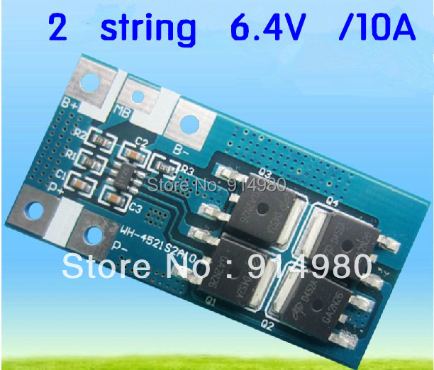 2 string 10A high current lithium iron phosphate font b battery b font protection board two