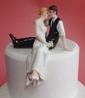 ร้อนขายสไตล์ตะวันตกของขวัญแต่งงานเค้กตกแต่งเจ้าสาวและเจ้าบ่าวตุ๊กตารูปแกะสลักเรซิ่นเค...