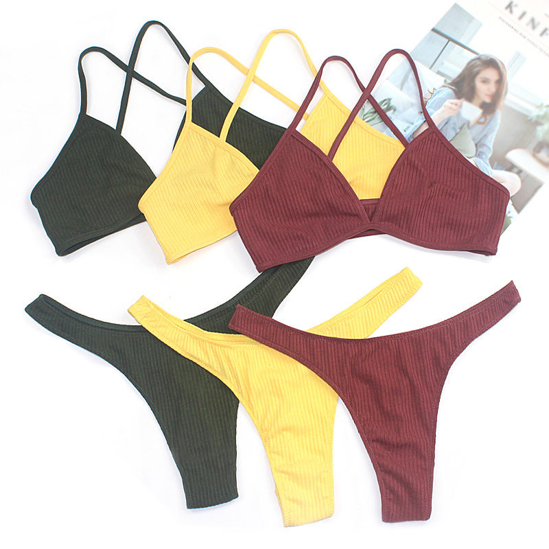 2019 New High Quality Cotton Female Underwear   Set   Soft Women Bralette   Set   Girl Lingerie   Sets   Push Up Panty And   Bra     Set   Sexy