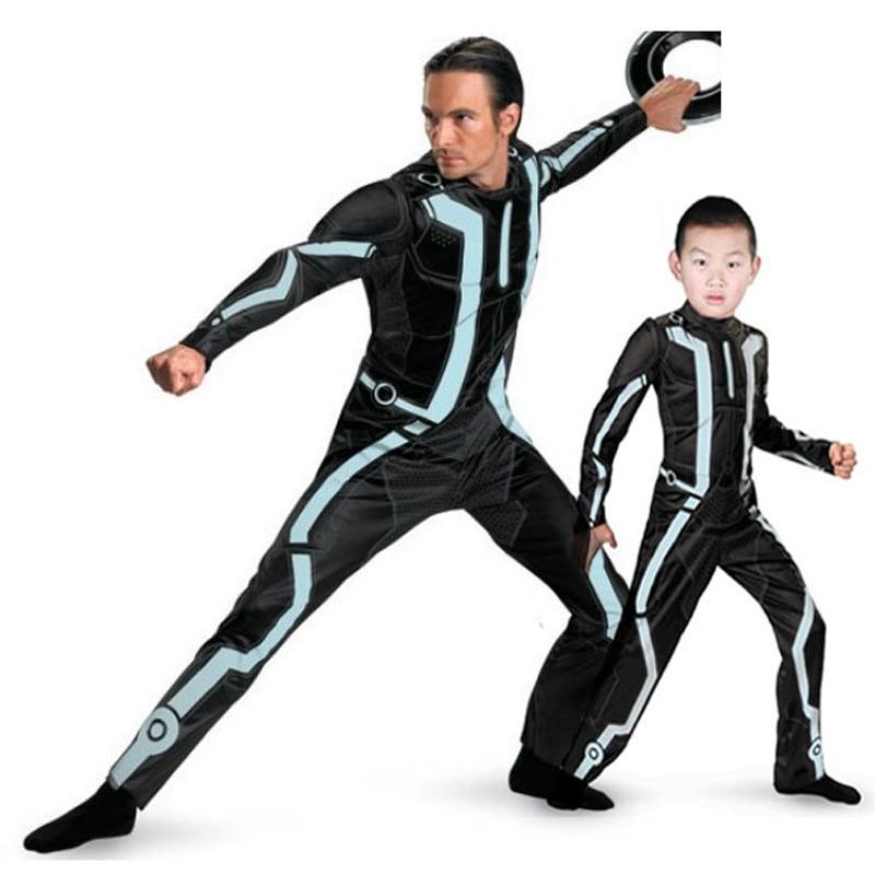I bambini di Età di Halloween Del Partito Del Vestito Operato Muscolare Tron Legacy Costume Per 4-12 Anni di Età I Bambini o per Adulti
