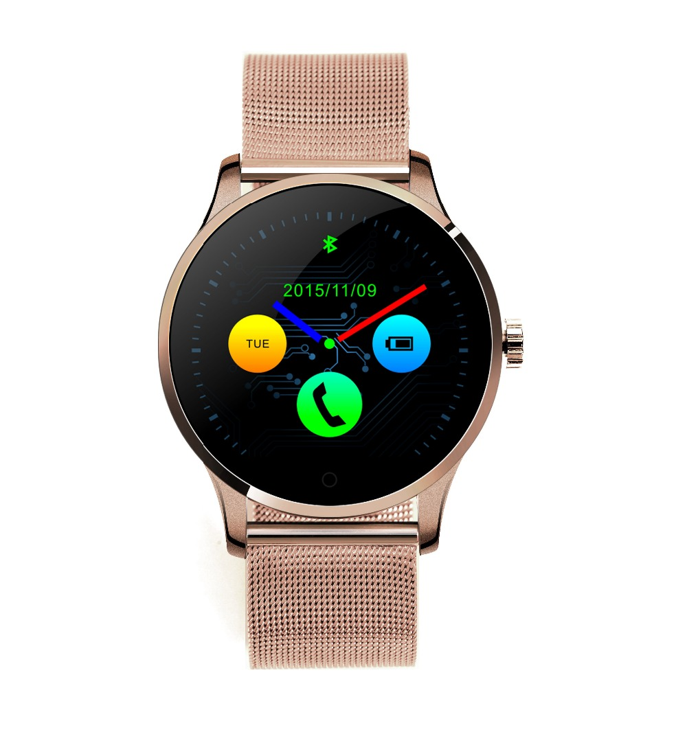 K88H Smart Watch IPS Round Screen Support Heart Rate Monitor Bluetooth smartWatch For Iphone Huawei IOS Android bluetooth smart watch heart rate monitoring g3 plus smartwatch support siri voice control raise bright screen for android ios