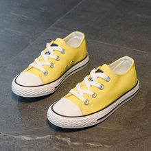 Baby kids shoes for girl children canvas shoes boys 2019 new spring summer girls sneakers yellow fashion toddler shoes EU 21-37