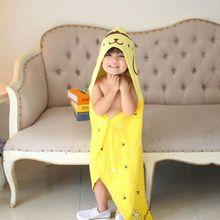 3 цвета, хлопковый купальный Халат с капюшоном наивысшего качества, детское пляжное банное полотенце, детский халат, детский плащ