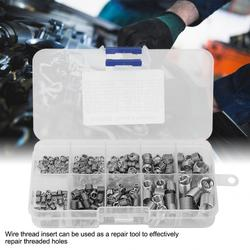 240Pcs Stainless Steel Threaded Insert Wire Screw Sleeve Thread Repair Insert Kit Coiled Wire helical screw thread repair tool