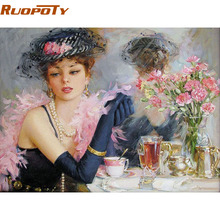 RUOPOTY Beautiful Bride DIY Digital Oil Painting By Numbers Canvas Wall Art Handpainted Oil Painting For Home Decoration 40X50CM(China)