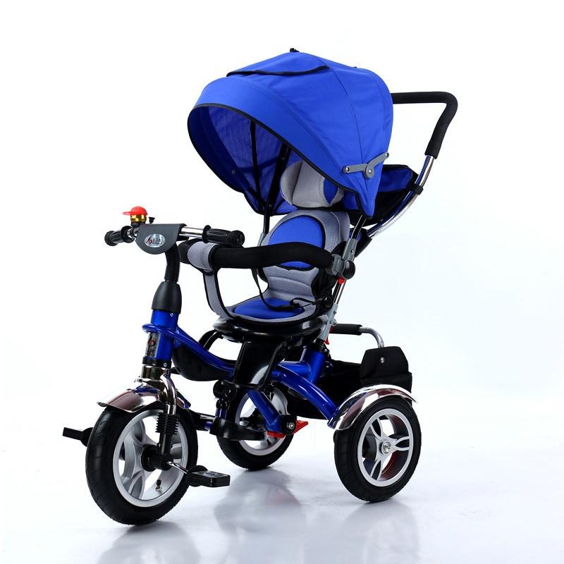 все цены на Ultifunctional children's tricycle baby bicycle baby stroller rotating seat 1-3-5 kids bike онлайн