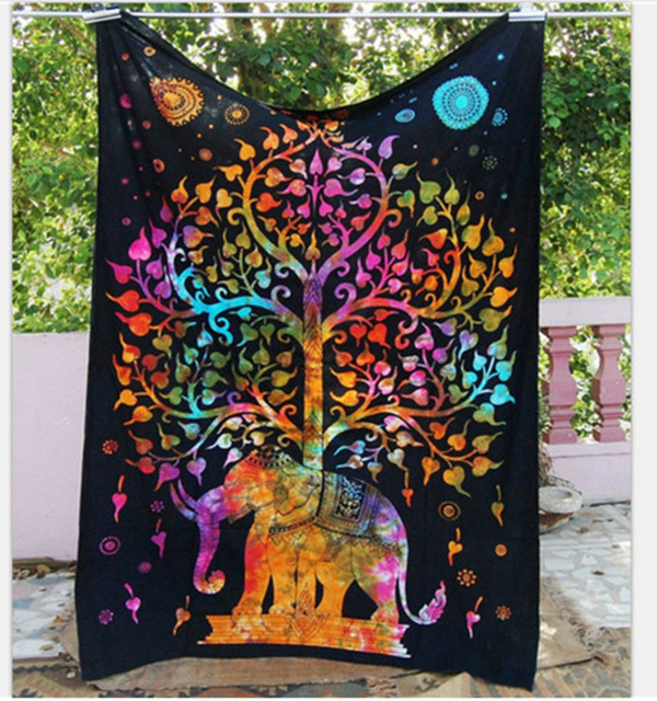 bedroom tapestry. Bohemian Hindu Indian Tree Elephant Mandala Tapestry Wall Hanging For  Bedroom Large Tapestries Beach Blanket