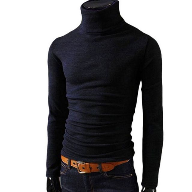 buy online b7594 1dfb5 US $8.64 17% OFF|Männer Stretch TShirt Feste Farbe Mandarin Kragen Langarm  T Shirts Männer Dünne Beiläufige Mens T Shirt Plus Größe Hüfte hop Street  ...