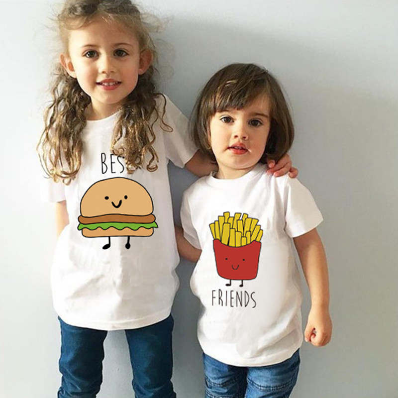 MAGGIE'S WALKER <font><b>Kids</b></font> T-<font><b>shirts</b></font> <font><b>Best</b></font> <font><b>Friend</b></font> Siblings Matching Clothes Funny Children Boys Girls Printed T <font><b>Shirts</b></font> Brothers Sisters image