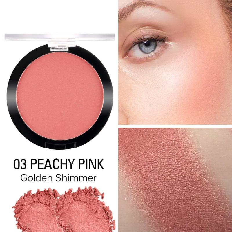 SACE LADY Макияж Румяна натуральный Сияющий порошок стойкий Румяна пигментированные запеченные для щек красный, матовый косметические для макияжа лица TSKM1 - Color: 03