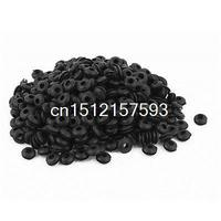 400Pcs Black Rubber Cable Wire Protector Grommets Solid Plug Gasket Ring